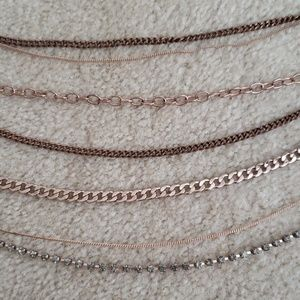 Rose Gold multi chain necklace